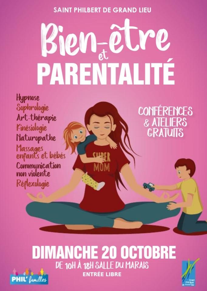 Affiche salon bien-être et parentalité, dimanche 19 octobre 2020, Saint Philibert de Grand Lieu